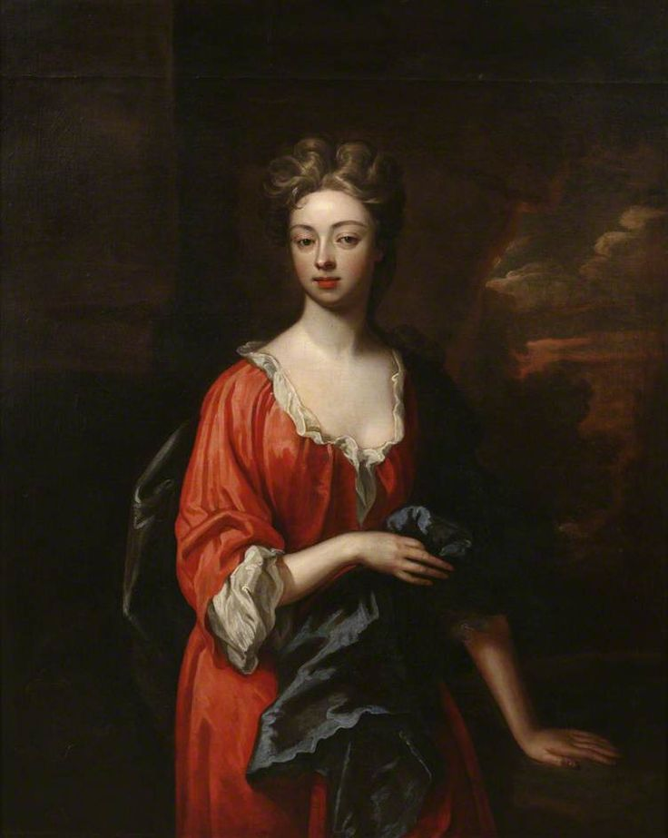 """""""Portrait of a Lady in a Red Dress"""", Godfrey Kneller, ca ...  """"Portrait ..."""
