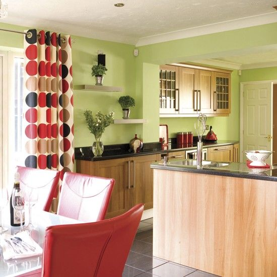 Green Kitchen Colour Ideas Home Trends: Decorating With Contrasting Colours
