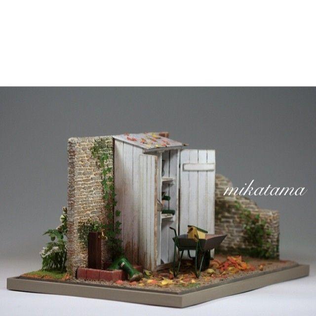 +++COUNTRYSIDE Autumn🍂🍁🍂 W=300mm,D=220mm #miniature #ミニチュア #ドールハウス