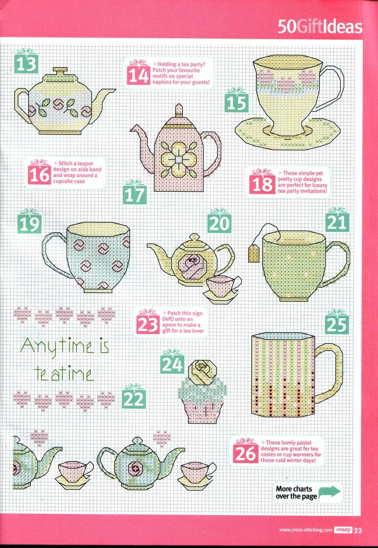Cross Stitch Crazy - Teatime Gift Ideas 2/4