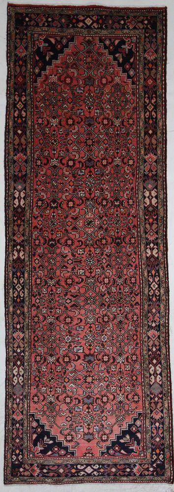 Hamadan Handgeknüpft  PerserTeppich Rugs  311 x 110 cm tappeto Orient