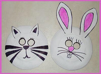 Les Mercredis de Julie : Masques avec assiettes en carton