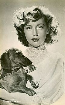 Anne Vernon with Dachshund on flickr.com