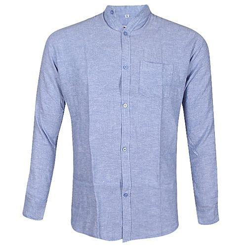 54151a7bc8 Buy Jahid Fashion Light Slate Blue Cotton Long Sleeves Casual Shirt For Men  for ৳ 600.00 15 05 2018 online at Daraz Bangladesh ✓ Best service✓ Enjoy ...