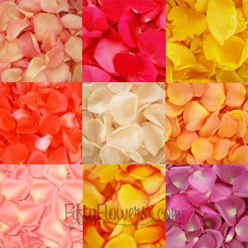 FiftyFlowers.com - Choose Your Colors Rose Petals - 6,000 Rose Petals for $139.99