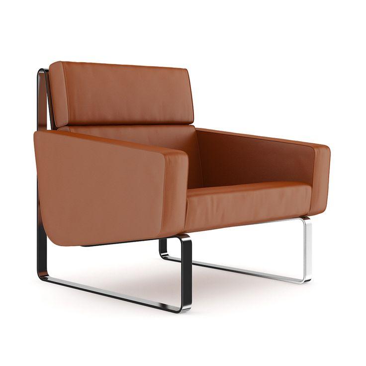 Brown Leather Modern Armchair Rlc Melia Me Pinterest