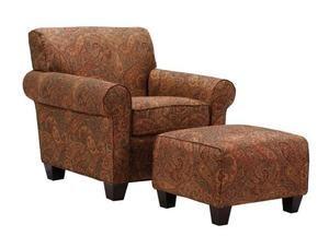 Handy Living Washington Chair and Ottoman, Sienna Paisley