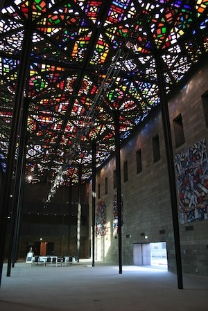 one of my favourite galleries ever - NGV Melbourne stained glass ceiling