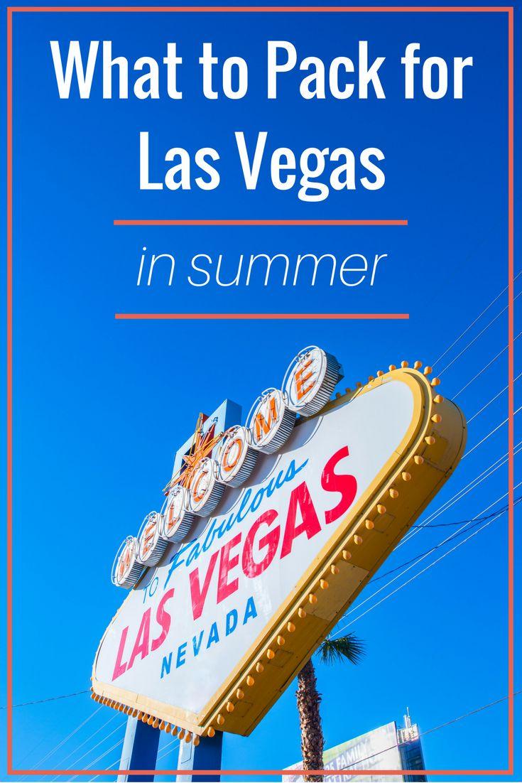 Las Vegas in Summer Packing List