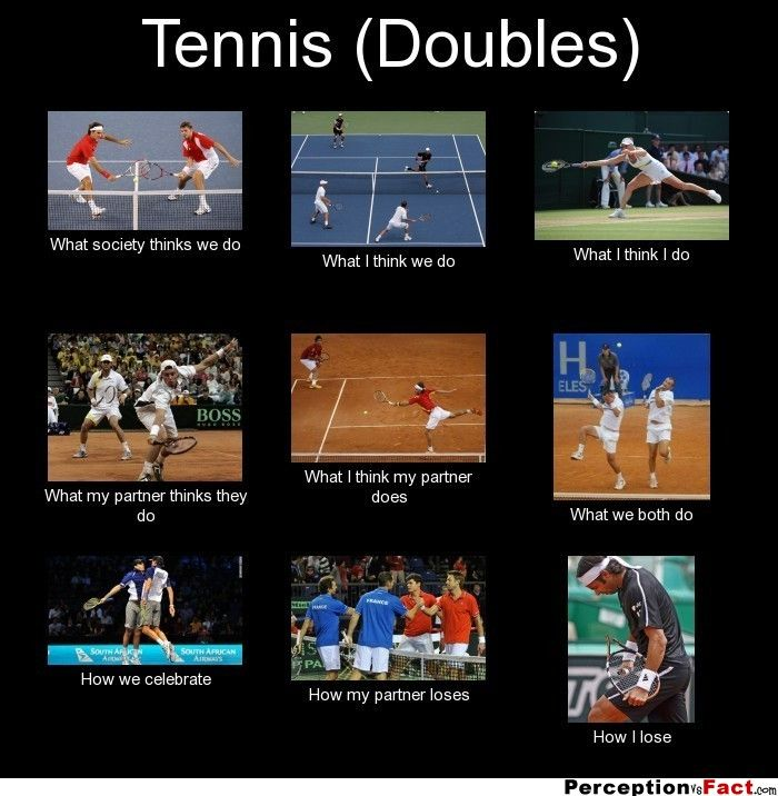 Tennis (Doubles)... - What people think I do, what I really do - Perception Vs Fact