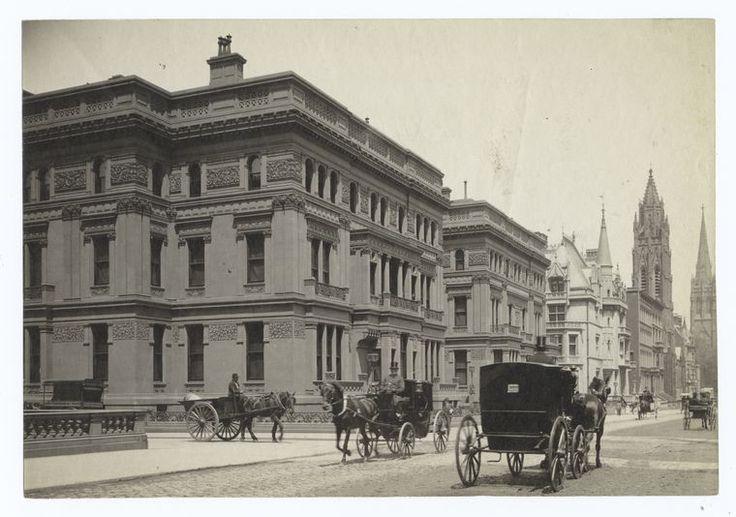 The Vanderbilt Houses, Fifth Avenue, New York  19th century