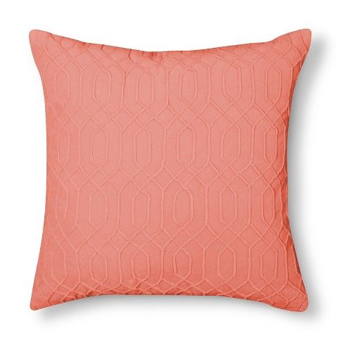 Beautiful coral throw pillows from Target. I need 2 more for my collection!