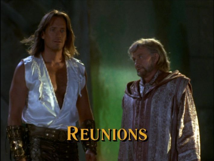 Roy Dotrice with Kevin Sorbo