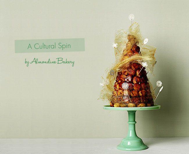 Croquembouche wedding cake