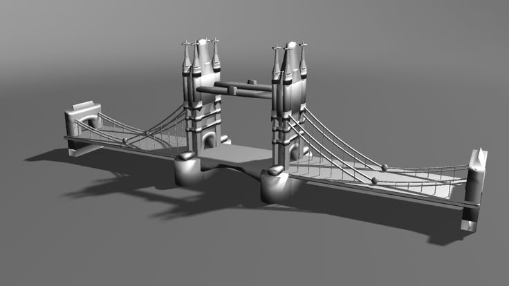 London Bridge in 3D.