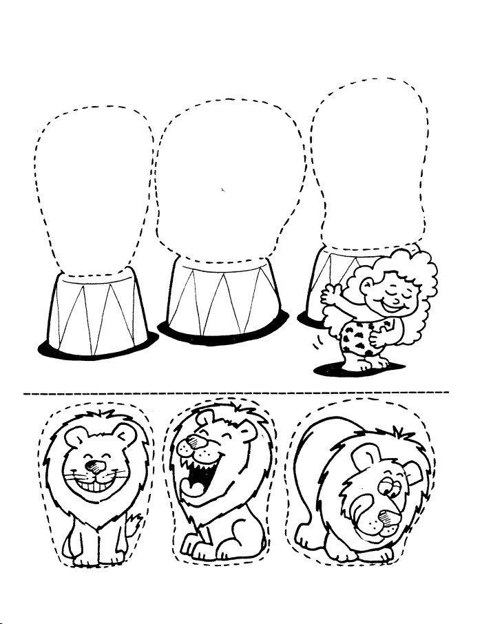 Circus Lions Coloring Sheet