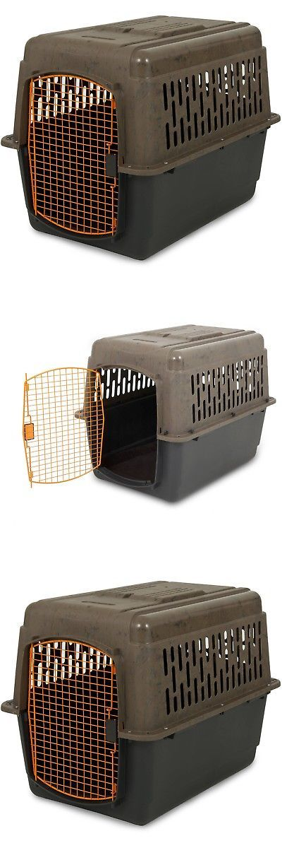 Cages and Crates 121851: Xl Dog Crate Large Travel Plastic Airline Approved Pet Kennel 36 Cage 50-70 Lb -> BUY IT NOW ONLY: $68.37 on eBay!
