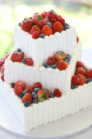 Cake....except i want strawberries and raspberries.