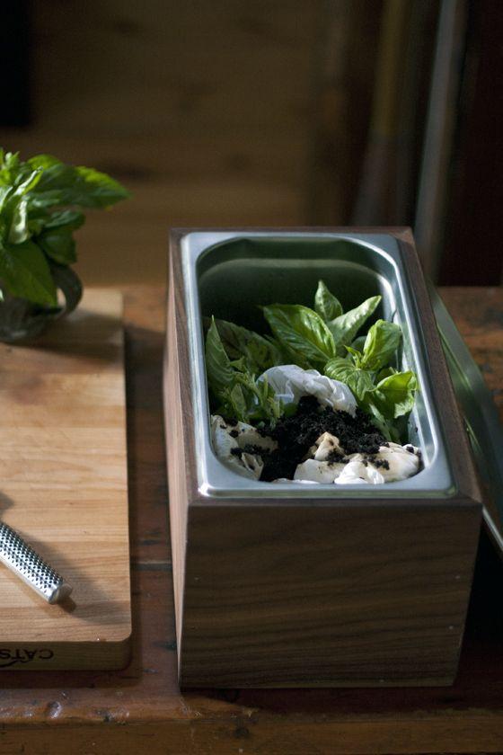 diy walnut countertop compost bin local kitchen