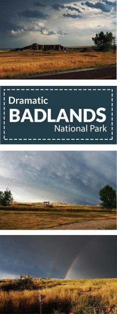 Dramatic shots from a storm in Badlands National Park
