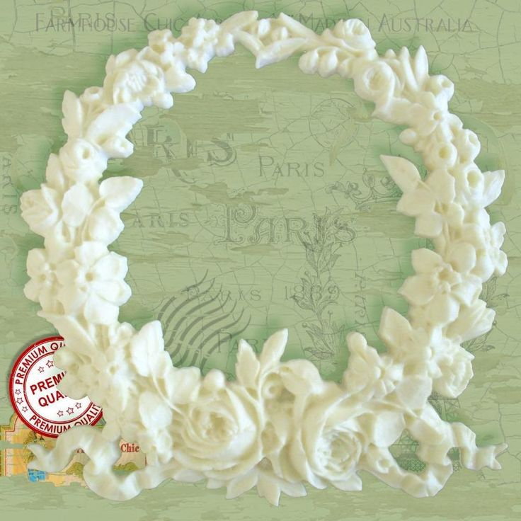 Shabby Chic French Large Rose Garland Furniture Applique Moulding Decoration