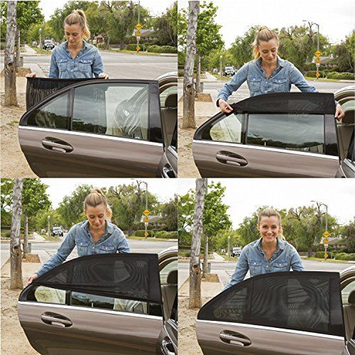 #ShadeSox #Universal #Car #Window #Sun #Shade - #Protects Your #Baby and #older #Kids from the #Sun, #Fits Almost Every Car! (2 Piece). ESPECIALLY GREAT FOR KIDS! Smaller children ride in the back seat, and are the passengers most likely to be bothered by high temperatures and bright sunlight. Protect your loved ones in their #car seats and booster seats by applying these #sun shades to the rear side doors of the #car. This provides UV protection, cuts #sun glare, reduces hea