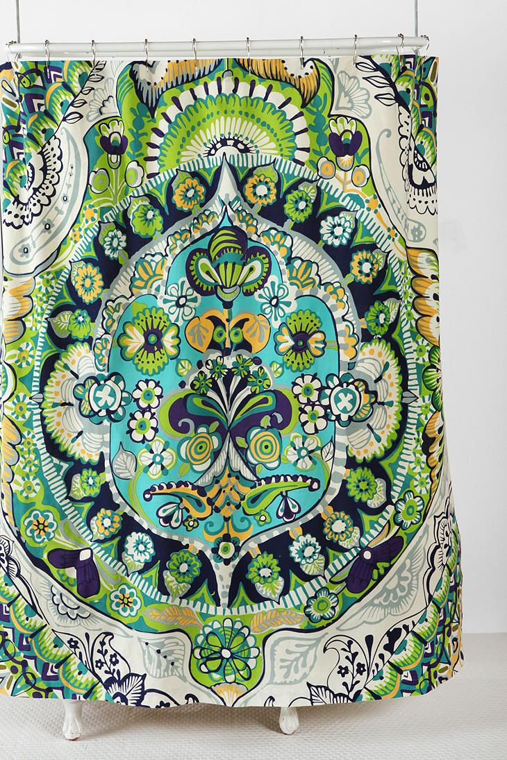 Peacock shower curtain urban outfitters - From Urban Outfitters Painted Mandala Shower Curtain