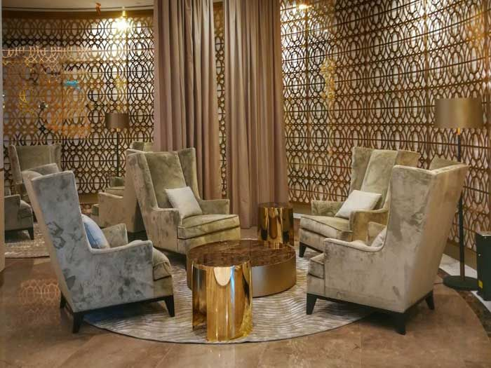 Oman Air Opens Its New And Exclusive Premium Lounge At Muscat International Airport Lounge Beautiful Interiors Airport Lounge