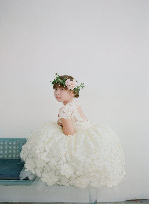 The Annabelle Flower Girl Dress by Doloris Petunia - Elegant Bridal Designs