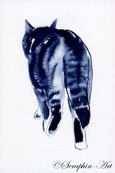 2011-06-145 Katze Aquarell Zeichnung