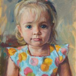portret olejny dziecka