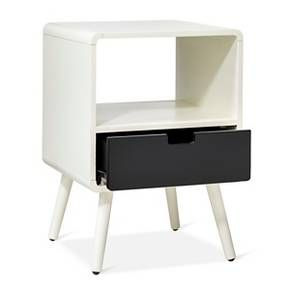 The Pillowfort 1-Drawer Mid-Century Kids Nightstand will hold all your kids' bedside necessities. The bedside table is just right for a boy's or girl's room and makes the perfect landing spot for a clock, book, glass of water and box of tissues. The good looks and quality construction will make this a piece that sees your child through many years and changes in decor.