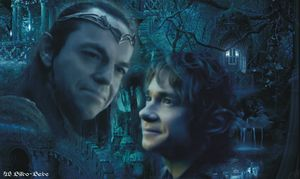 Elrond and Bilbo in Rivendell by LadyCyrenius on deviantART