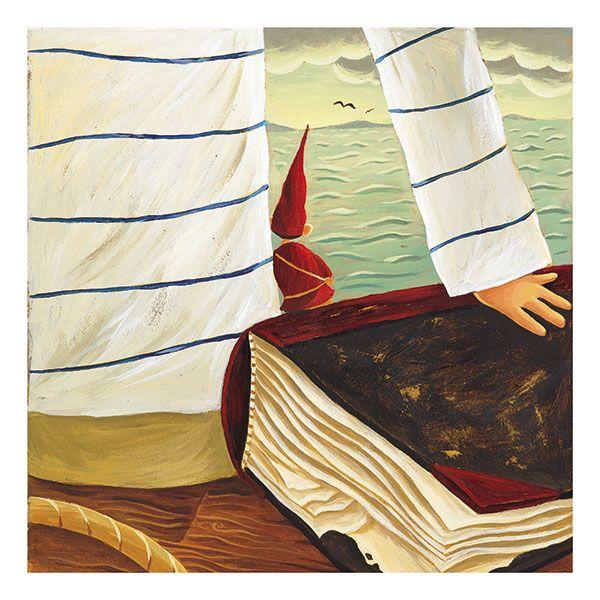 Gnome * Sailor * Ocean * Rogé * Acrylic * Illustration * Art * Children's Books