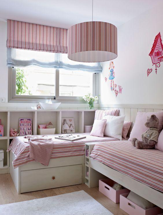 Amueblar una habitación infantil compartida #hogar #decoración #habitación #infantil #juvenil #compartida www.hogardiez.com.es
