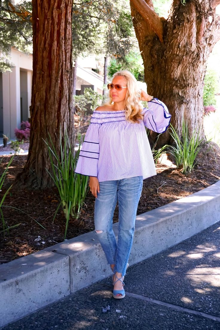 Chic Off The Shoulder Top | Parker NY | Mom Style | Outfit Inspiration