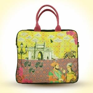 'Royal Romance' Laptop Bag   with Pink Strap  MRP - Rs. 1495
