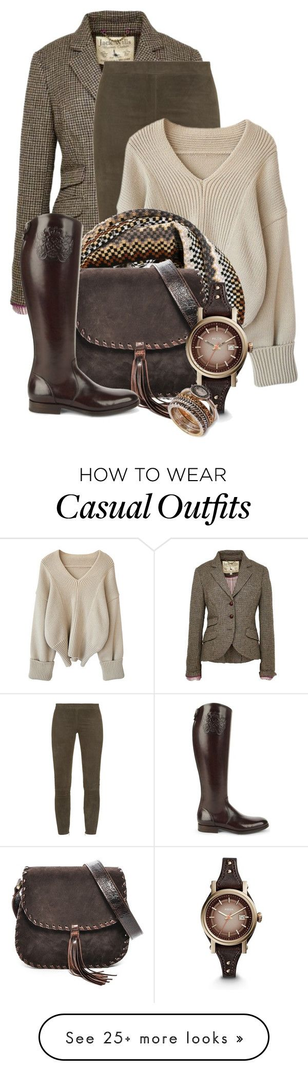 """Casual"" by sugerpop on Polyvore featuring Jack Wills, Vince, Missoni, Carla Mancini, Alberto Fasciani and FOSSIL"