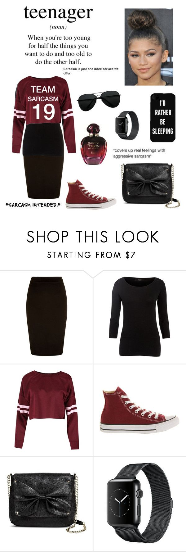 """Teen Swag"" by kmt1398 ❤ liked on Polyvore featuring Weekend Max Mara, Converse and Sam & Libby"
