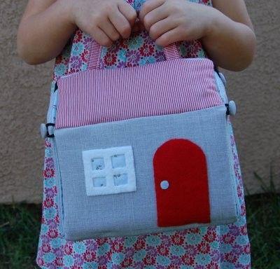 house purse (make mini furniture and dolls to go inside)