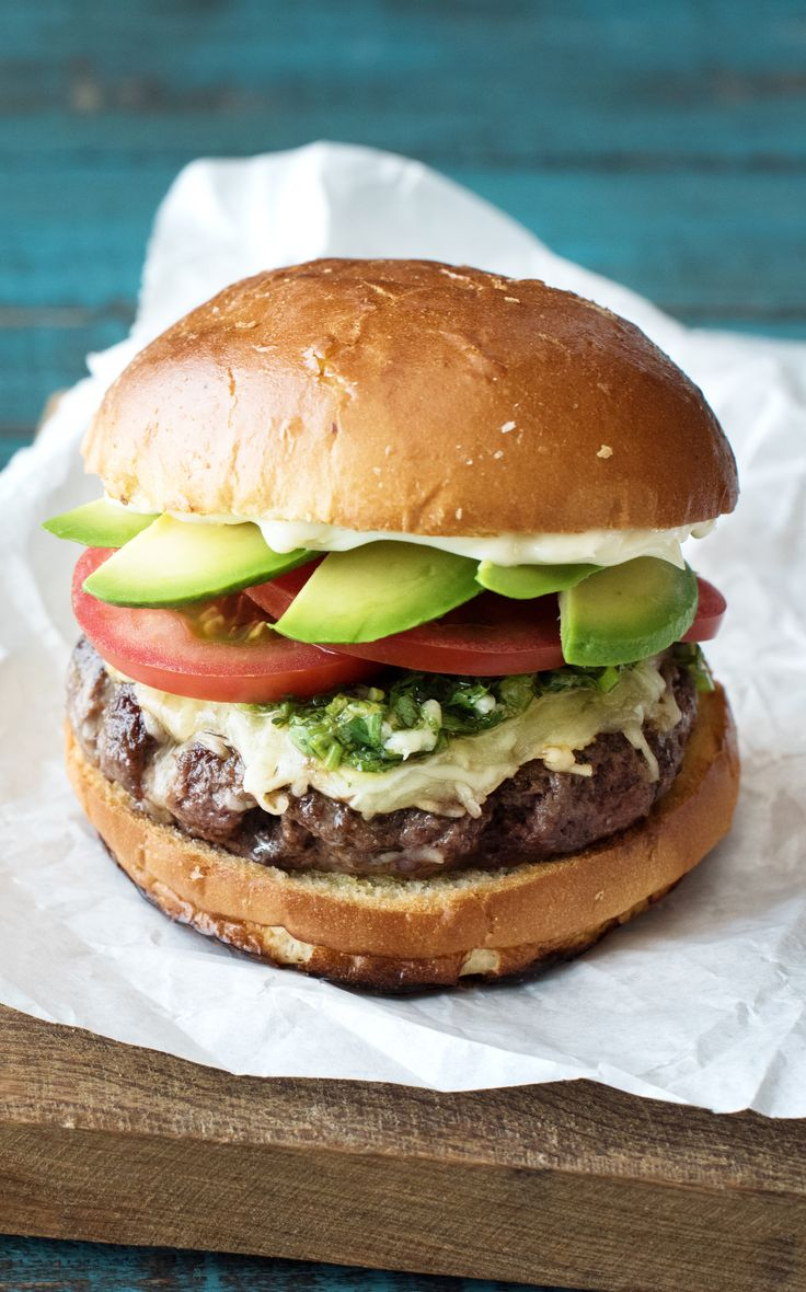 Blue apron lemongrass burger - Chimichurri Burgers With Avocado Monterey Jack And Cabbage Slaw Cabbage Slawblue Apronsandwich