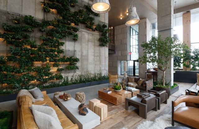 1hotel Brooklyn Bridge Hotel Lobby Design Vertical Garden Indoor Hotel Foyer