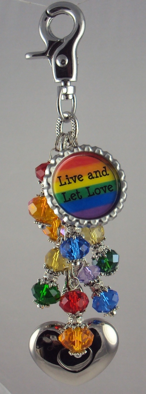 Live And Let Love purse light by Diva Dangles www.divadangles.com