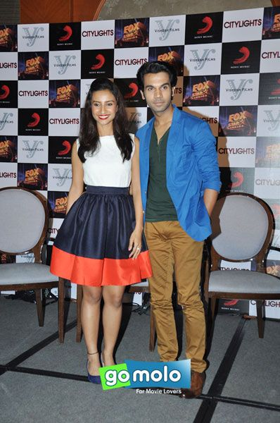 Patralekha Paul & Raj Kumar Yadav at the Press meet of Hindi movie 'City Lights' in Mumbai