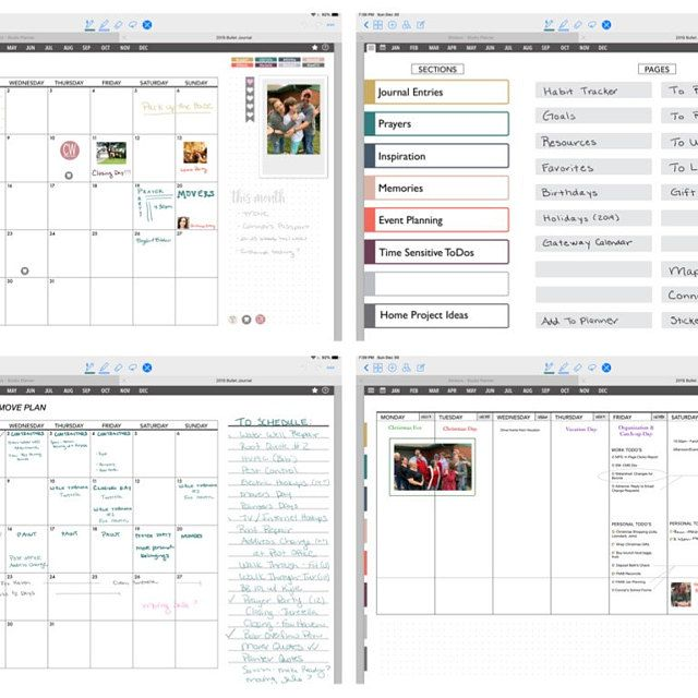 July 2020 to June 2021 Mid Year Daily Dated Digital Planner   Etsy