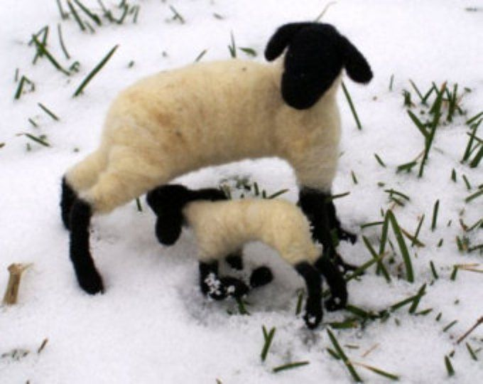 Sheep and Lamb - needle felted