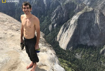 UPDATE with photo: Nat Geo just got its Hollywood ending. Rock climber Alex Honnold today pulled off the first-ever free solo climb of famed El Capitan's 3,000-foot vertical rock face at Yose…