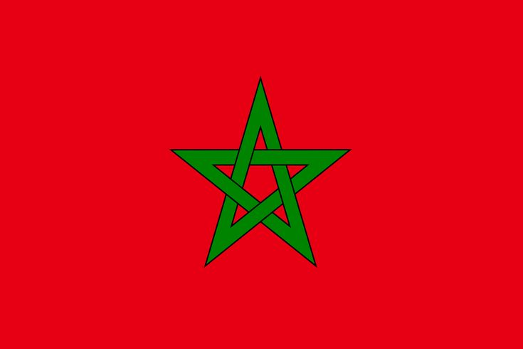 The flag of Morocco consists of a red base with a green outlined, five-point…