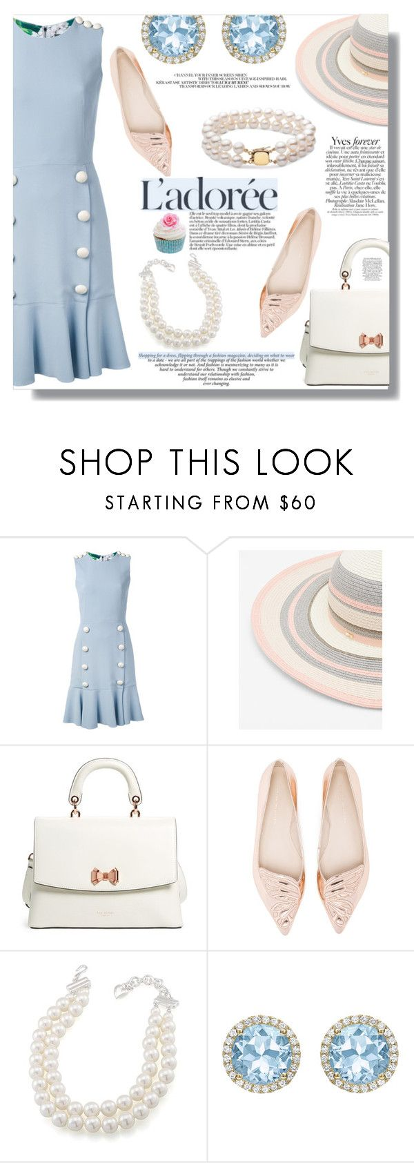 """be lady like"" by xwafflecakezx on Polyvore featuring Dolce&Gabbana, Ted Baker, Sophia Webster, Carolee, Kiki mcdonough and SANCHEZ"