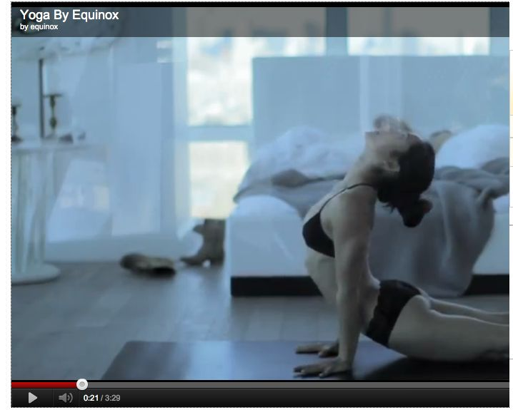 Video one of two by Equinox fitness that has received a lot of attention and generated controversy for its 'sexy' portrayal of yoga. Article is interesting as in summarizes the controversy, especially the history of the featured fitness instructor / model who has overcome eating disorders and body dysmorphia. No personal comment on this - still digesting.
